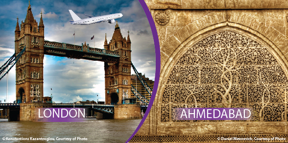 Flights London to Ahmedabad